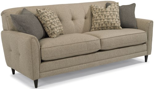 Flexsteel Jacqueline Relaxed Vintage Sofa with Button Tufting