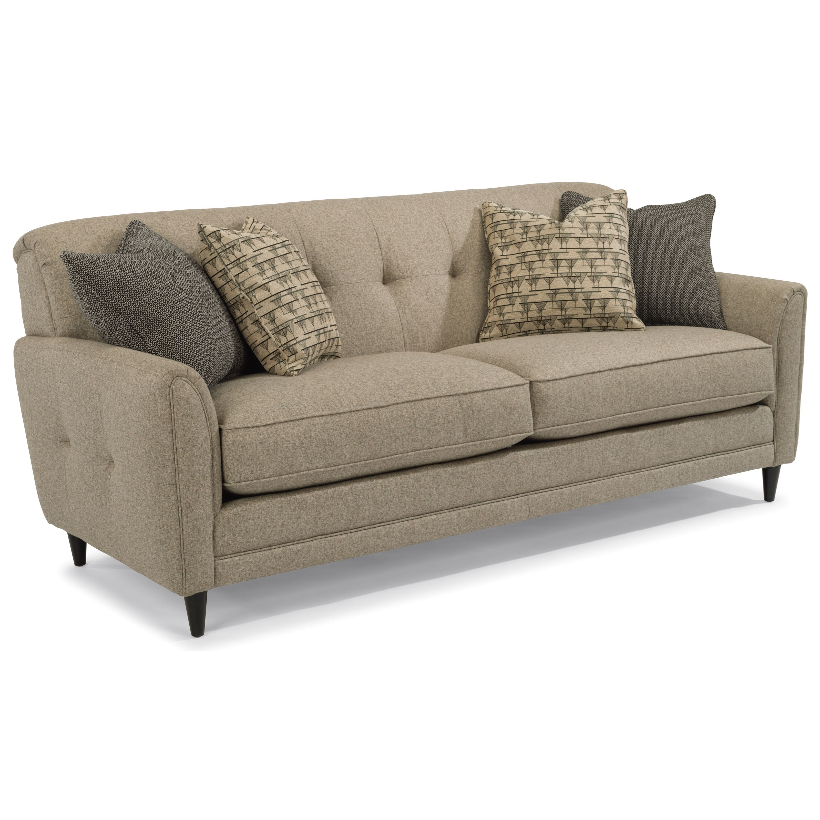 Charmant Flexsteel Jacqueline Relaxed Vintage Sofa With Button Tufting