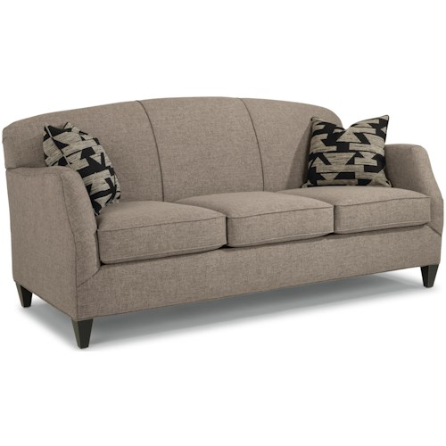 Flexsteel Jasmine Contemporary Sofa with Tapered Legs