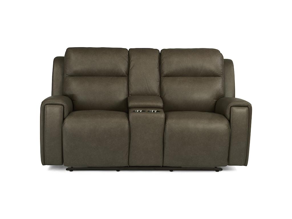 Flexsteel Latitudes - JasperPower Reclining Console Love Seat