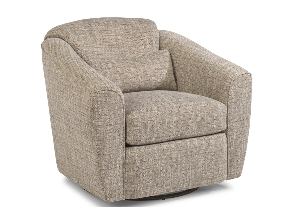 Jaxon Casual Swivel Chair by Flexsteel at Rooms and Rest
