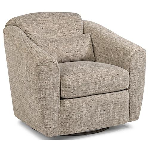Flexsteel Jaxon Casual Swivel Chair