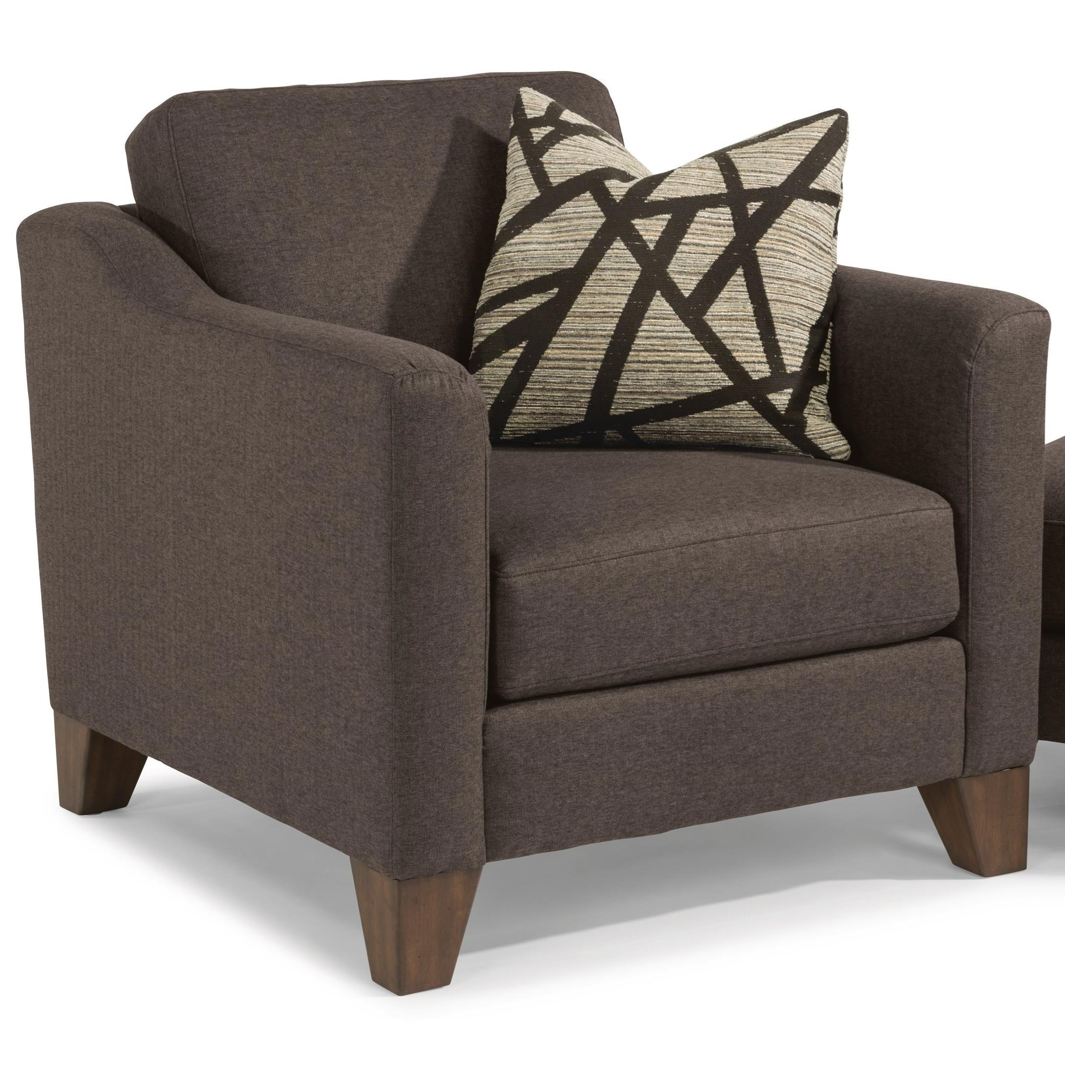 Flexsteel Jordan Transitional Chair With Tapered Wood Legs | Darvin  Furniture | Upholstered Chairs