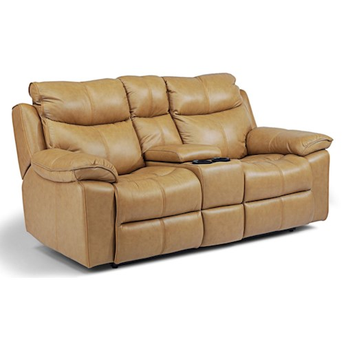 Flexsteel Latitudes - Julio Power Love Seat with Console, Cupholders, and Drawer