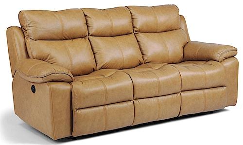 Flexsteel Latitudes - Julio Power Reclining Sofa with Bustle Backs
