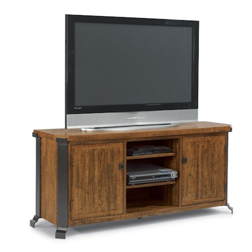 Flexsteel Kenwood Entertainment Center with Wood and Steel