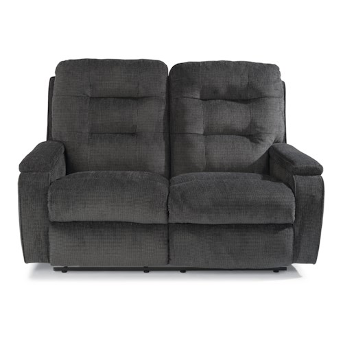 Flexsteel Kerrie Casual Biscuit Back Reclining Loveseat