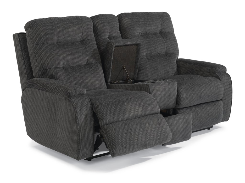 Flexsteel KerriePower Reclining Loveseat with Console