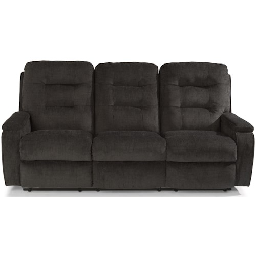 Flexsteel Kerrie Casual Biscuit Back Reclining Sofa