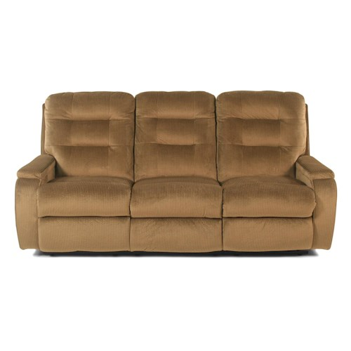 Flexsteel Ashboro Casual Biscuit Back Reclining Sofa