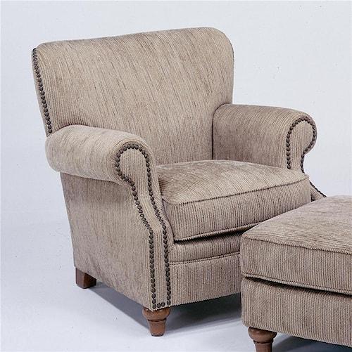 Flexsteel Killarney Upholstered Chair w/ Nail Head Trim