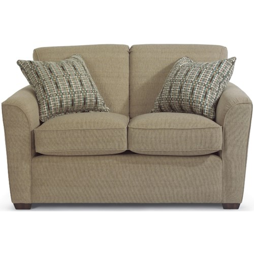 Flexsteel Lakewood Love Seat with Flair Tapered Arms