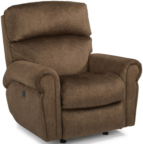 Flexsteel Langston Casual Power Rocking Recliner with Power Headrests and Single USB Port