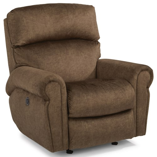 Flexsteel Langston Casual Power Rocking Recliner with Single USB Port