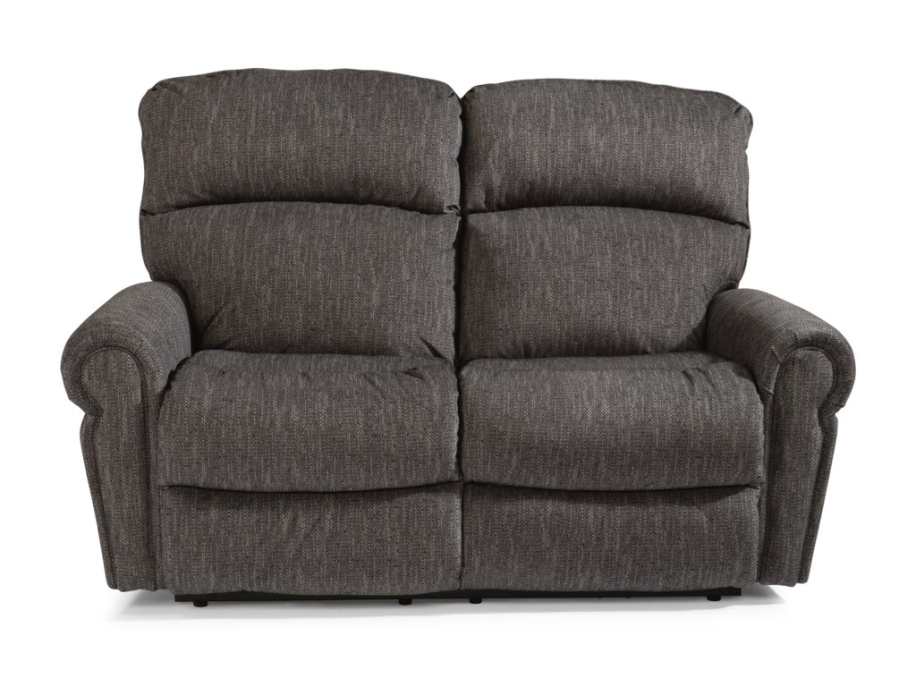 Flexsteel SaylorPower Reclining Love Seat w/ Power Headrests