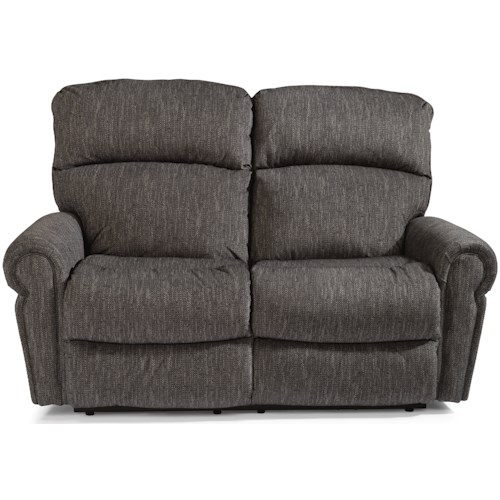Flexsteel Langston Casual Power Reclining Love Seat with USB Port