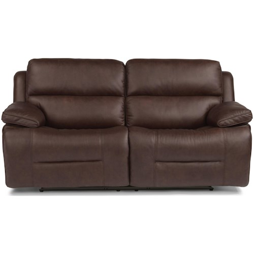 Flexsteel Apollo Casual Power Reclining Sofa with Power Headrest and USB Port
