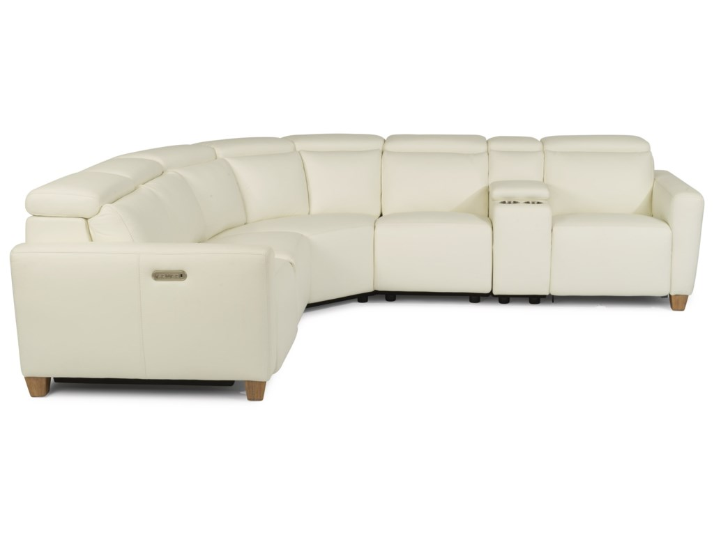 Flexsteel Latitudes - Astra6 Pc Reclining Sectional Sofa