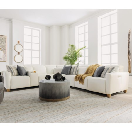 7 Pc Reclining Sectional