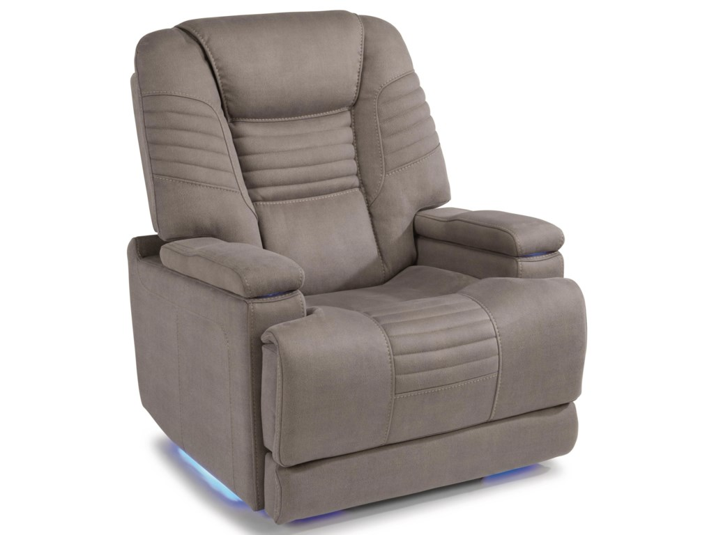Flexsteel Latitudes - BainPower Layflat Recliner w/ Pwr Headrest