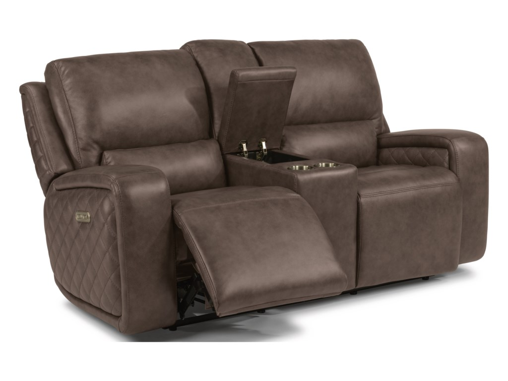 Flexsteel Latitudes - BladePower Reclining Console Loveseat