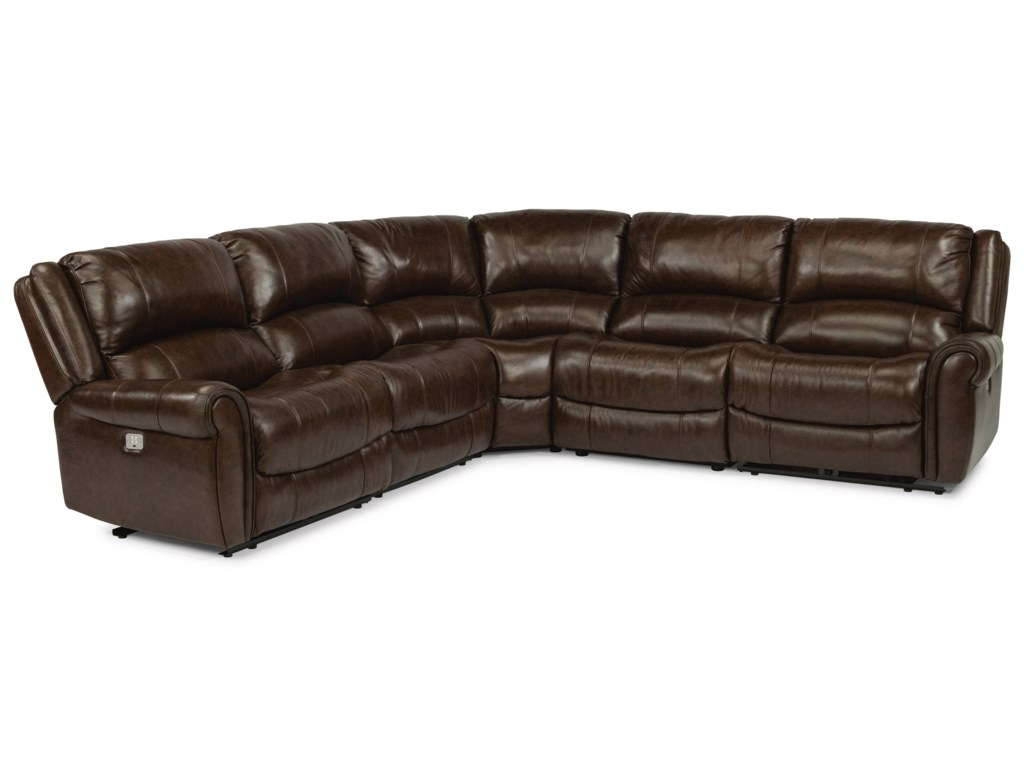 Flexsteel Latitudes - BrazenPower Reclining 4 Seat Sectional