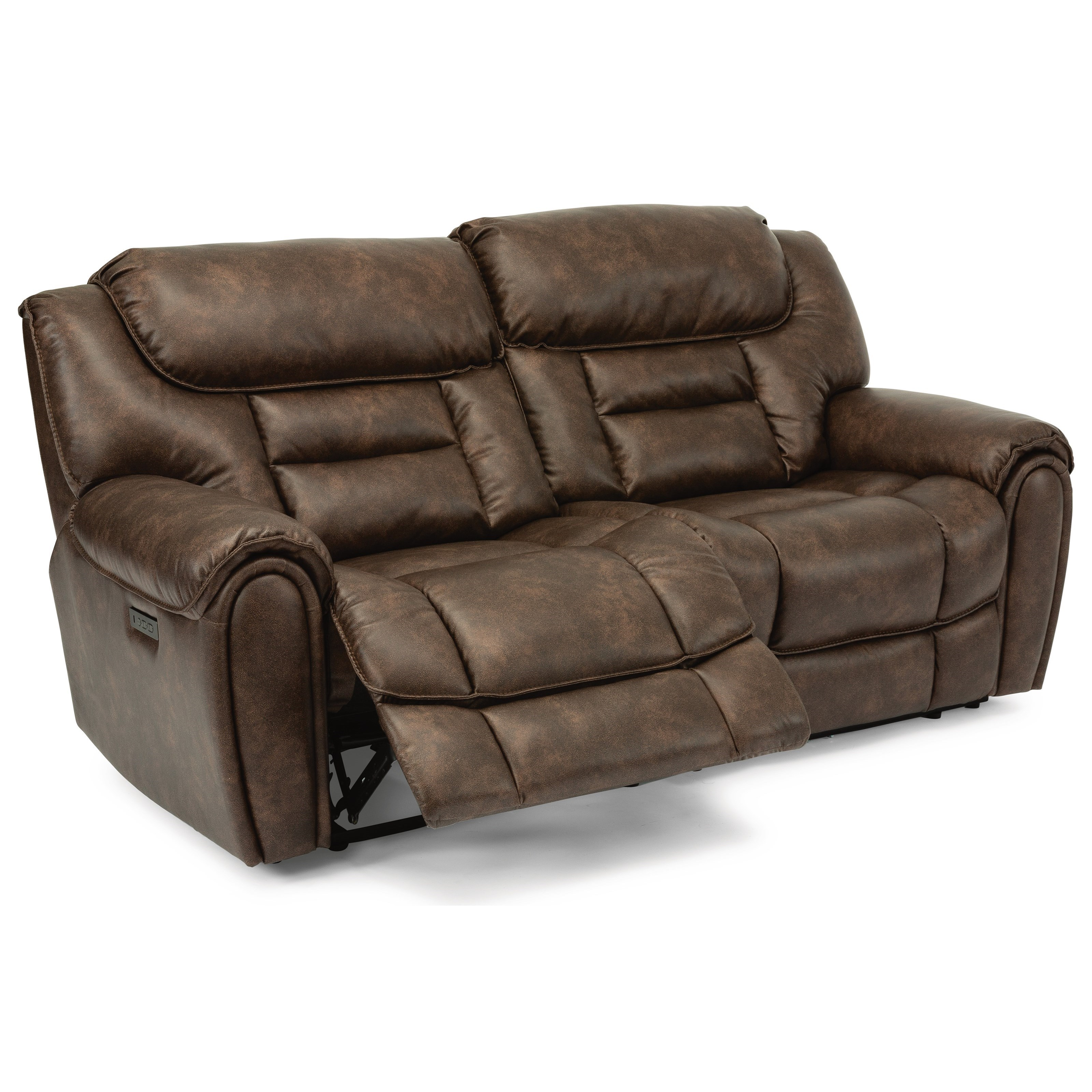 Casual Power Reclining Loveseat with Power Headrest and USB Ports