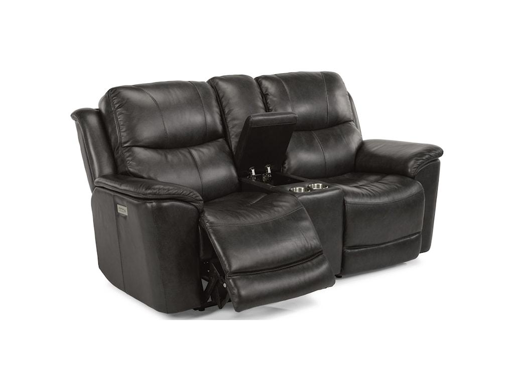Flexsteel Latitudes - CadePower Console Love Seat