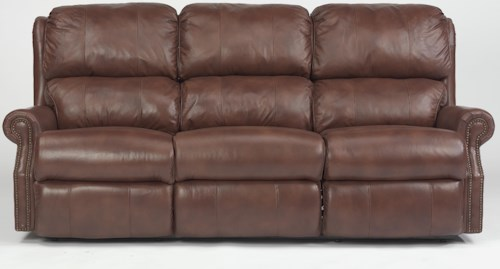 USUALLY SHIPS OUT WITHIN 5-7 BUSINESS DAYS. Latitudes - Comfort Zone Traditional Power Reclining Sofa with Nailhead Trim