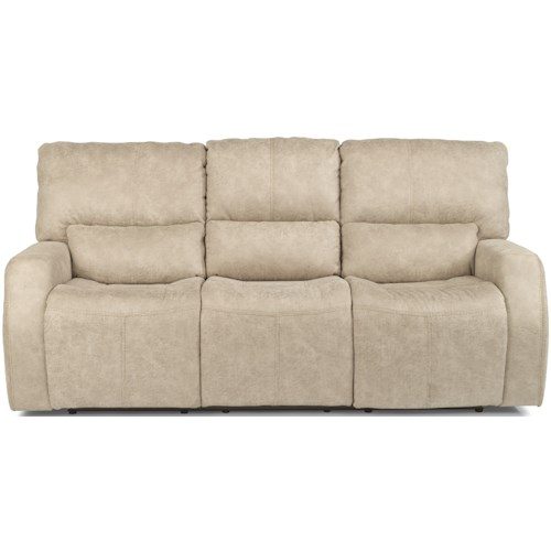 Flexsteel Latitudes - Cooper Contemporary Power Reclining Sofa with Power Headrests and USB Port