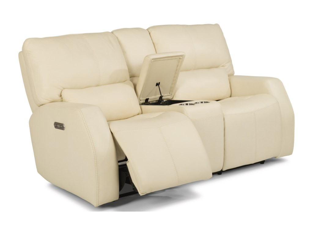 Flexsteel Latitudes - CooperPower Reclining Console Love Seat