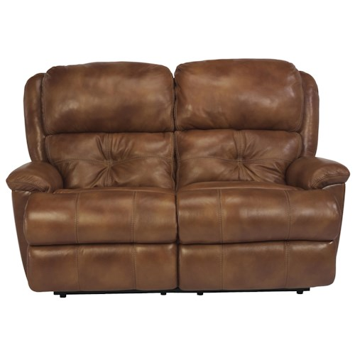 Flexsteel Latitudes - Cruise Control Power Reclining Loveseat with Two Recliners for Family Room Comfort