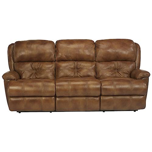 Flexsteel Latitudes - Cruise Control Comfortable Power Reclining Sofa for Casual Family Room Decor