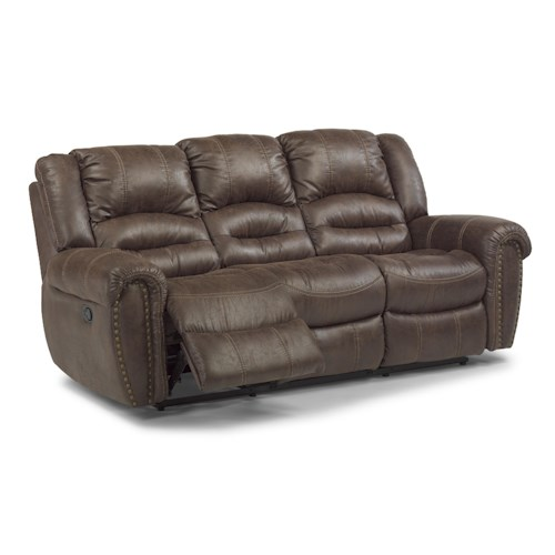 Flexsteel Latitudes - Downtown Transitional Power Double Reclining Sofa