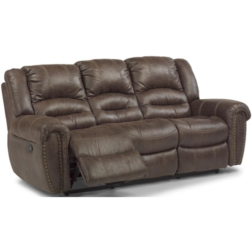 Flexsteel Latitudes - Downtown Transitional Double Reclining Sofa