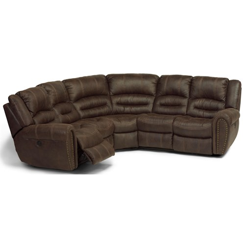 Flexsteel Latitudes - Downtown Rocking Reclining 3 pc. Sectional