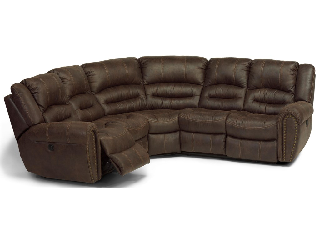 Flexsteel Latitudes - Downtown5 Piece Power Reclining Sectional