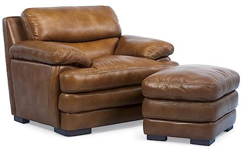 Flexsteel Latitudes - Dylan Leather Chair & Ottoman