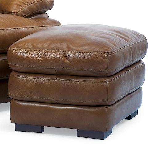 Flexsteel Latitudes - Dylan Double Top Leather Ottoman