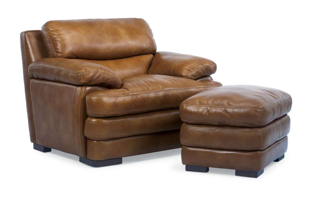 Flexsteel Latitudes Dylan 1127 10 Leather Chair With Pillow Top