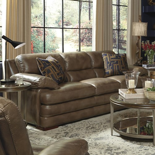 flexsteel latitudes dylan leather stationary sofa. Interior Design Ideas. Home Design Ideas