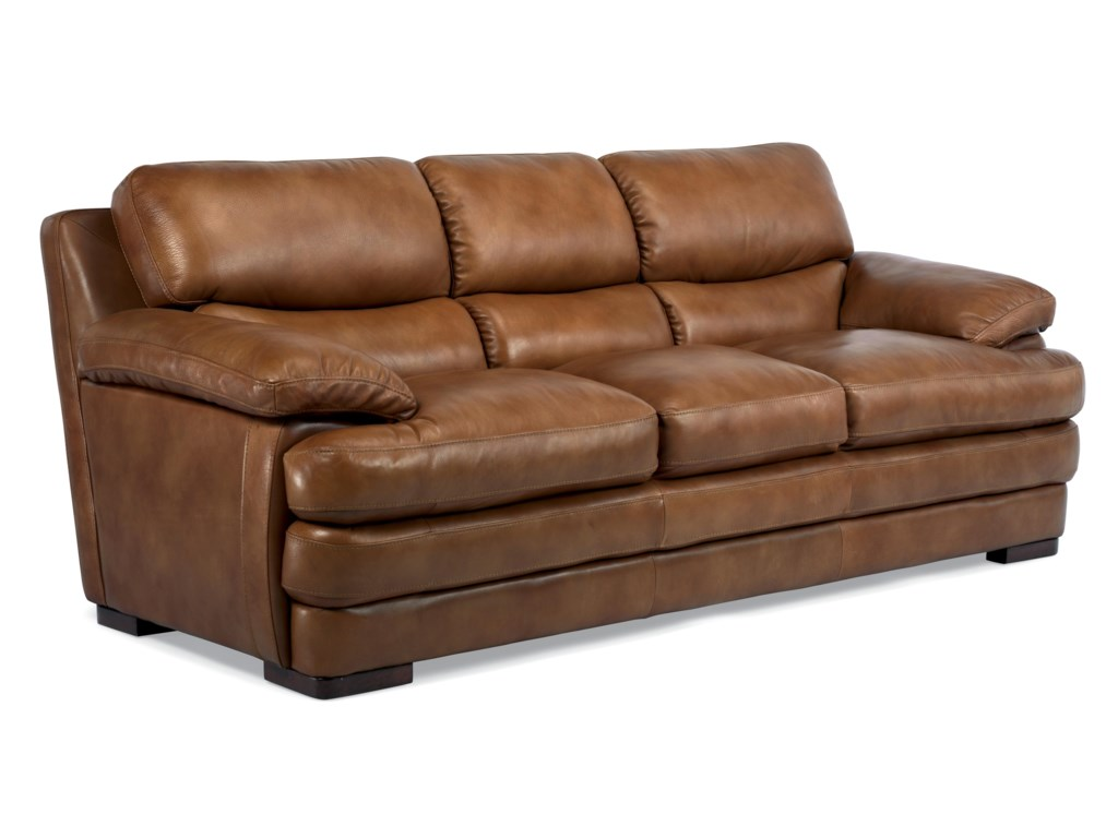 Flexsteel Latitudes - DylanStationary Leather Sofa