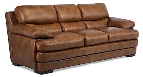 Flexsteel Latitudes - Dylan Leather Stationary Sofa