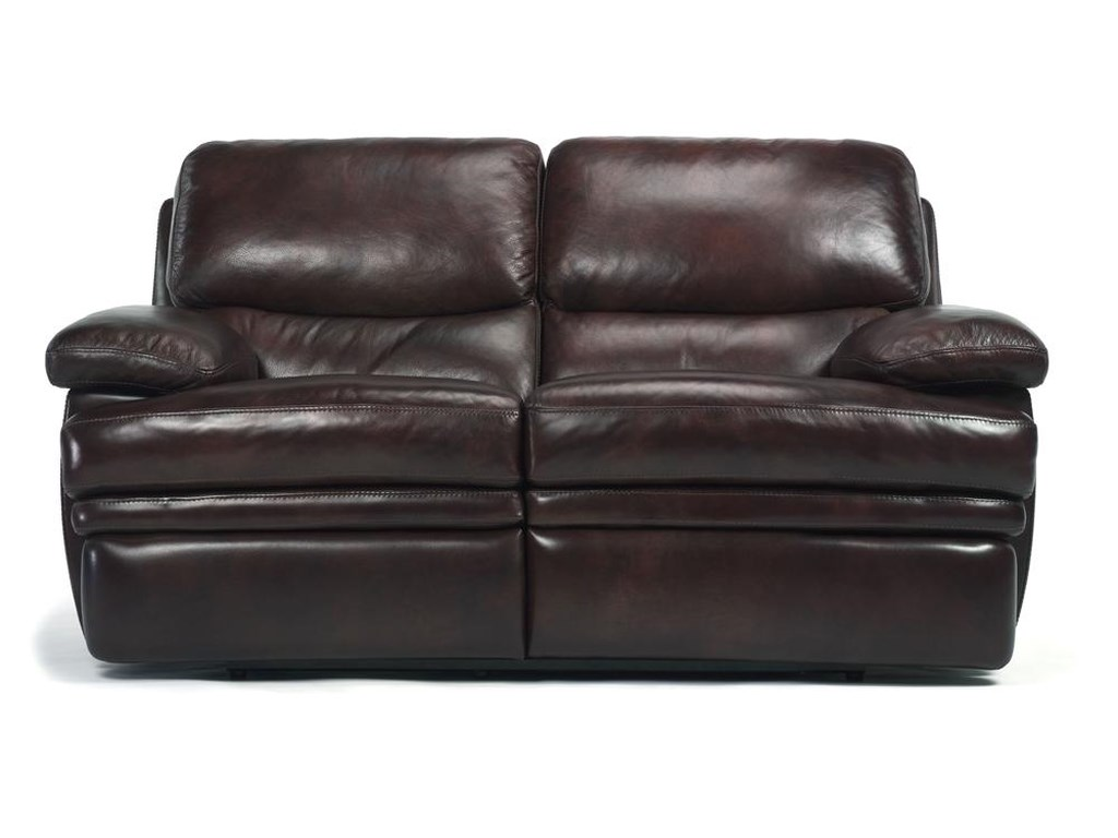 Flexsteel Laudes Dylan Leather Reclining Love Seat