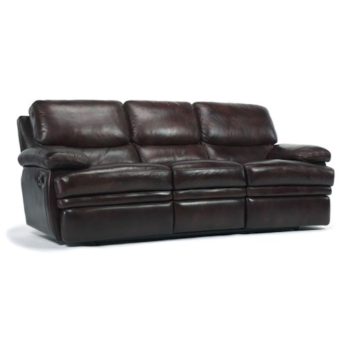 Flexsteel Latitudes Dylan Reclining Sofa Northeast - Flexsteel sofa leather