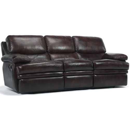 Flexsteel Latitudes - Dylan Leather Reclining Sofa