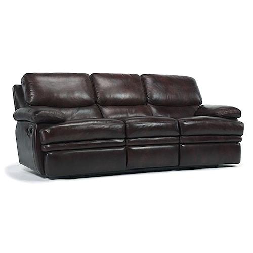 Flexsteel Laudes Dylan Leather Reclining Sofa