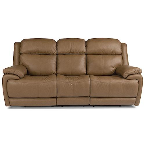 Flexsteel Latitudes - Elijah Contemporary Power Reclining Sofa With Power Headrest and Lumbar