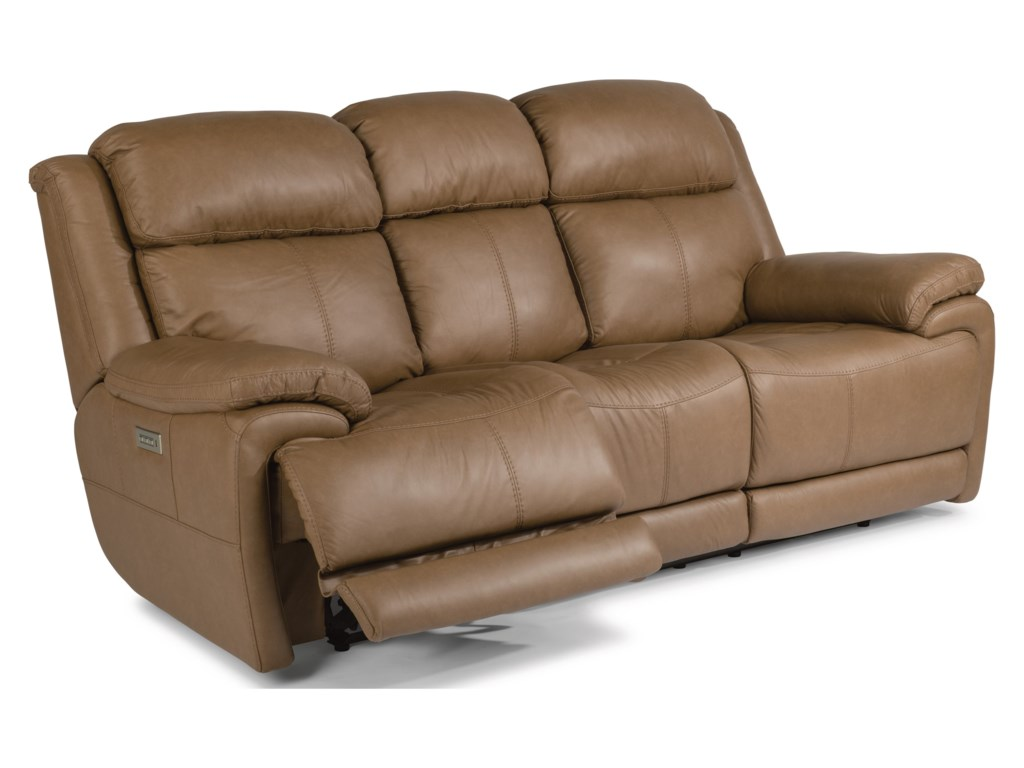 Flexsteel Latitudes - ElijahPower Reclining Sofa With Power Headrest