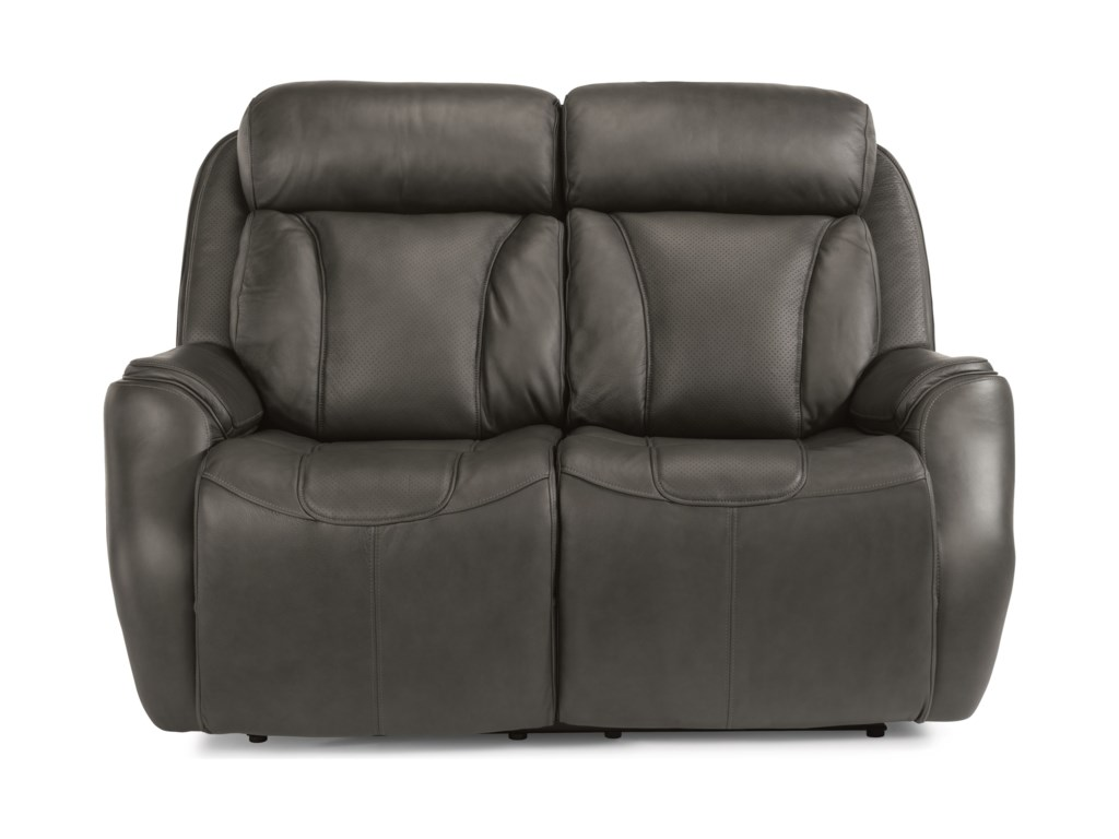Flexsteel Latitudes - FelixPower Reclining Loveseat with Power Headrest